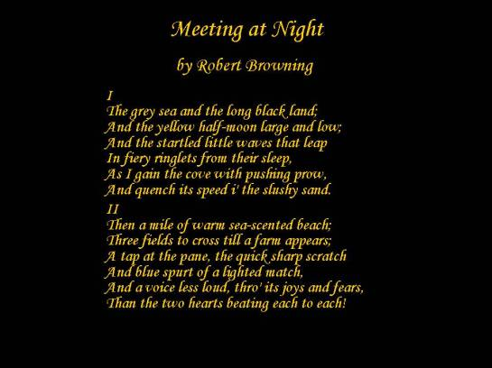 meeting at night